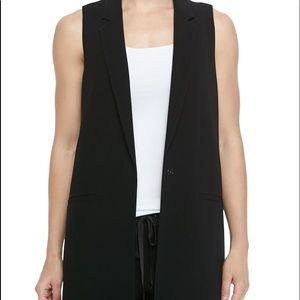 Elizabeth and James Wool One Button Vest Sz 0
